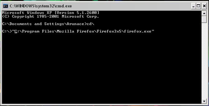 opening Firefox profile manager through command prompt