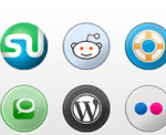 Social Media Icons Pack in 3 Sizes