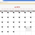 Sample Calendar Script in PHP