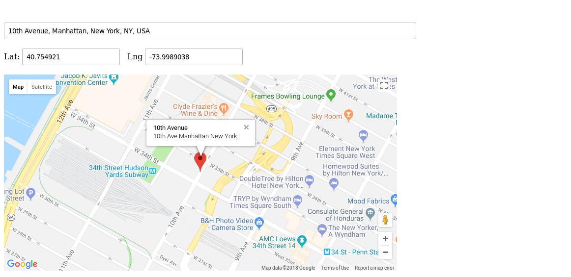 Google Maps Geocoder Example